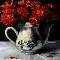 still-life_red-chrysanthemums-in-a-ceramic-kettle-_tushar-sabale-520-x-600