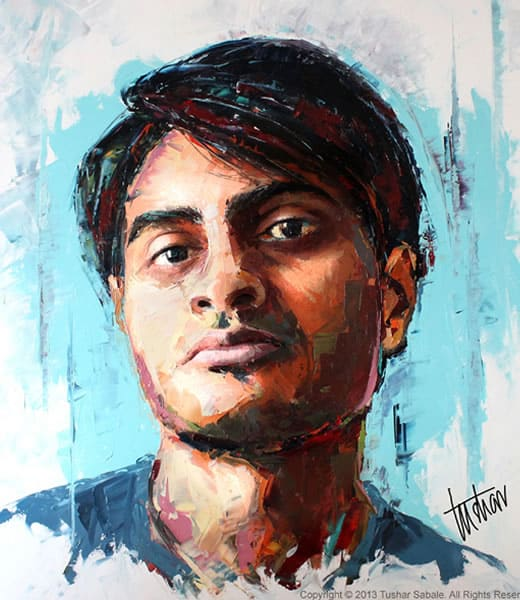 tushar-sabale_self-portrait_oil-on-canvas_520-x-600